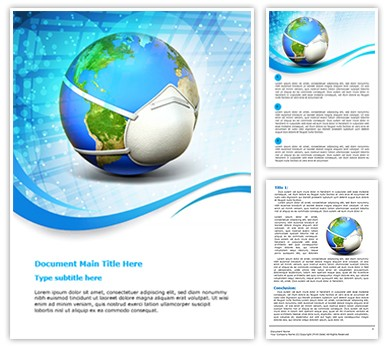 pandemic preparedness plan template - pandemic influenza editable word template and design