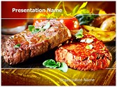 Grilled Meatloaf PowerPoint Templates