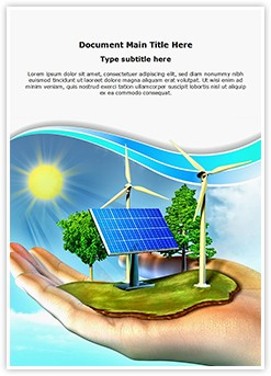 Renewable Energy Editable Word Template
