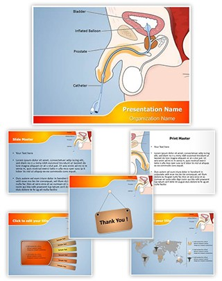 Catheter Male Editable PowerPoint Template