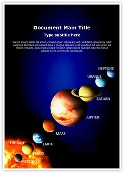 Solar System Editable Word Template