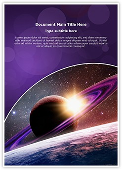 Planet Saturn Editable Word Template