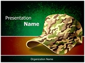 Army Cap Editable PowerPoint Template