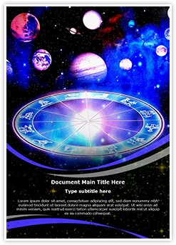 Astrologer Editable Word Template