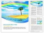 Rainbow Island Template
