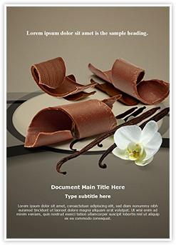 Chocolate Vanilla Editable Word Template