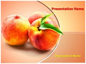 Peach Fruit PowerPoint Templates