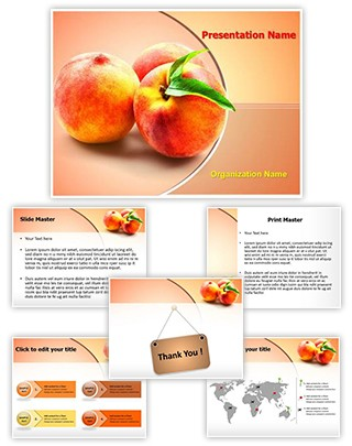 Peach Fruit Editable PowerPoint Template