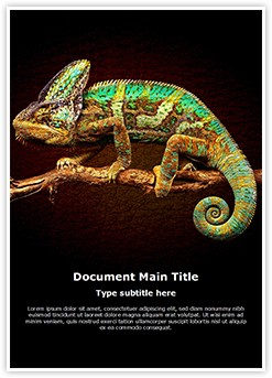 Chameleon Editable Word Template