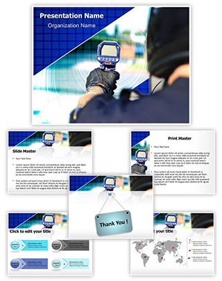 Speed Radar Gun Editable PowerPoint Template