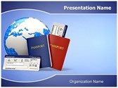 Tickets Passport Editable PowerPoint Template