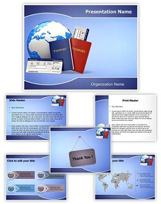 Tickets Passport Editable PowerPoint Template
