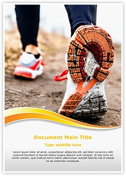 Running In Sport Shoes Editable Word Template
