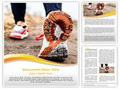 Running In Sport Shoes Template
