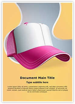 Baseball Cap Editable Word Template