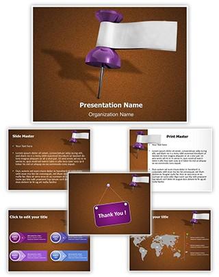 Date Thumbtack Editable PowerPoint Template