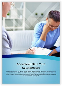 Psychology Therapy Editable Word Template