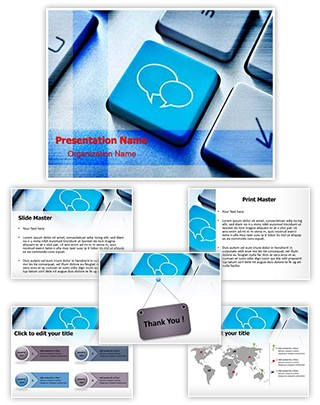 Social Media Chat Editable PowerPoint Template