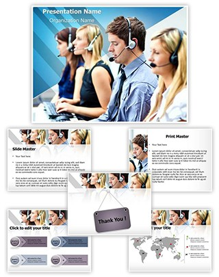 Call Center Editable PowerPoint Template