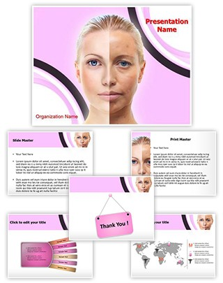 Ageing Beauty Editable PowerPoint Template