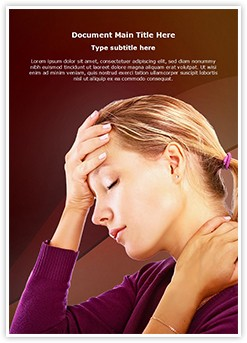 Head Neck Pain Editable Word Template
