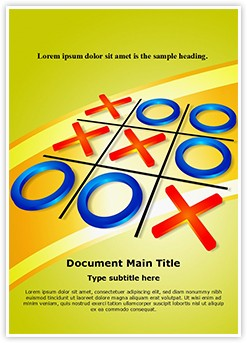 Crisscross Tic Tac Toe Editable Word Template