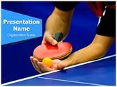 Table Tennis Service Editable PowerPoint Template