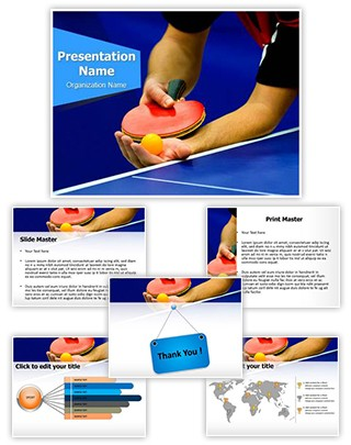 Table Tennis Service Editable PowerPoint Template