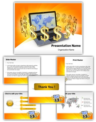 Online Business Editable PowerPoint Template