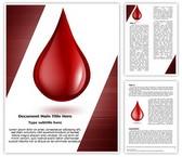 Blood Drop Editable Word Template