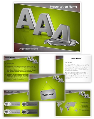Credit Rating Melting Editable PowerPoint Template