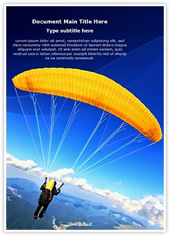 Paragliding Editable Word Template