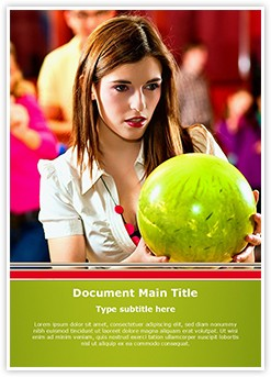 Bowling Ball Editable Word Template
