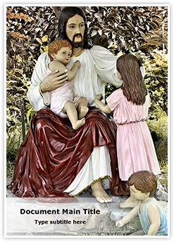 Jesus and kids Editable Word Template