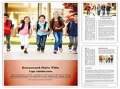 School Home Time Editable Word Template