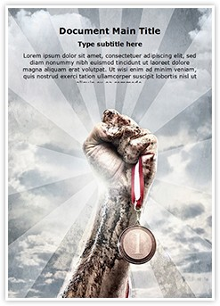 Olympic Medal Editable Word Template