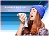 Sneezing Flu PowerPoint Templates