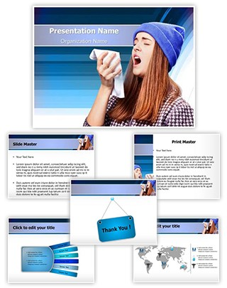 Sneezing Flu Editable PowerPoint Template