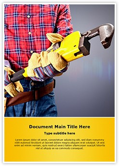 Plumber Wrench Editable Word Template