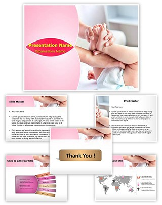 Changing Diaper Editable PowerPoint Template