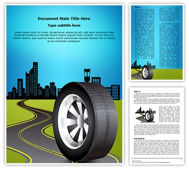 Automobile and Transportation Editable Word Document Template