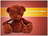 Cute Teddy Bear Editable PowerPoint Template
