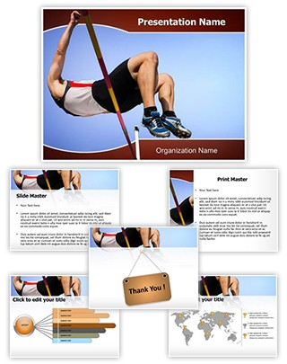 High Jump Editable PowerPoint Template