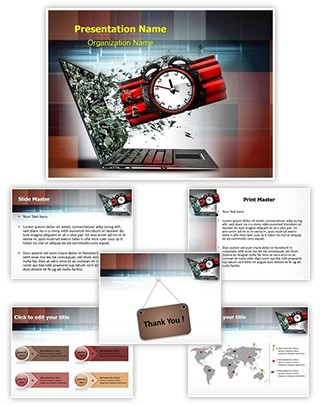 Digital Terrorism Editable PowerPoint Template