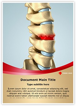 Disc Osteophyte Formation Editable Word Template