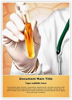 Urine Analysis Editable Word Template