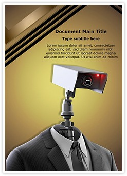 Robotic Security Editable Word Template