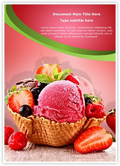 Ice Cream Berry Editable Word Template