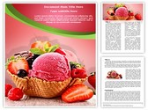 Ice Cream Berry Template