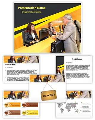 Front Office Desk Editable PowerPoint Template